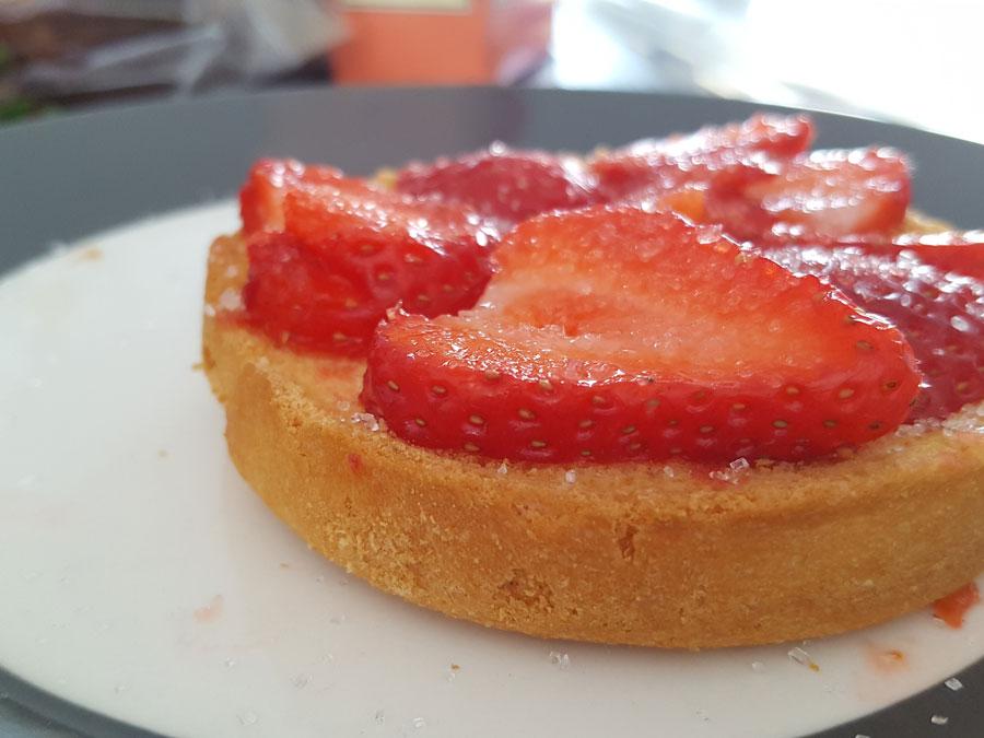 Beschuit-aardbeien
