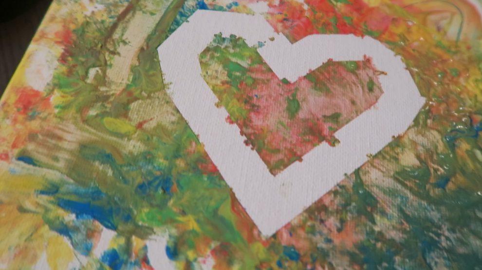 Diy cadeau knutselen met mirthe een schilderij voor oma - Babykamer schilderij idee ...