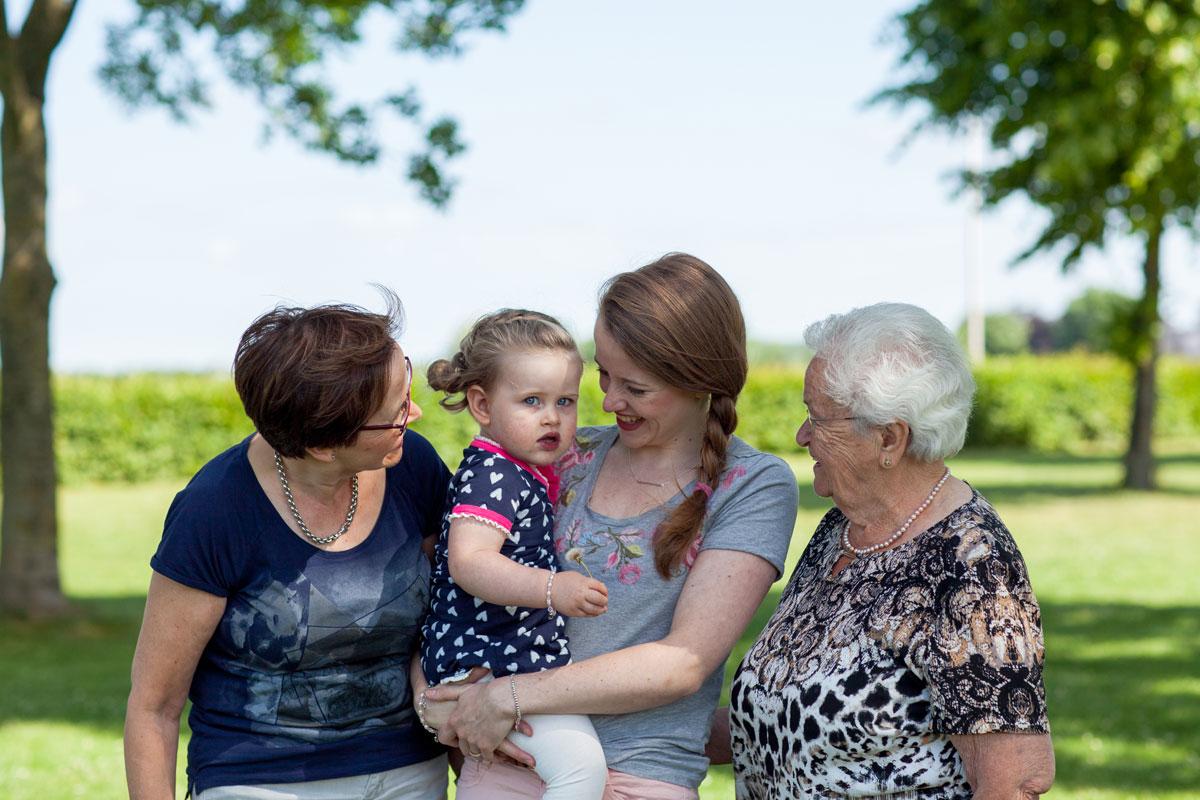 gezin drie generaties